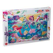 Clementoni - Under The Sea Supercolor Puzzle W/Glitter 104pc