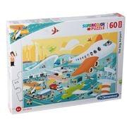 Clementoni - The Big Airport Supercolor Maxi Pieces  60pce