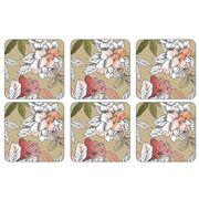 Pimpernel - Floral Sketch Coaster Set 6pce