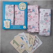 Bubba Blue - Peter Rabbit Dandelion Swaddle Set & Cards