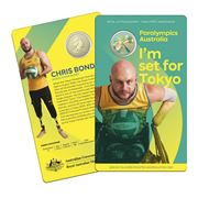 RA Mint - Aus. Paralympic Team Ambassador Chris Bond $1 Coin