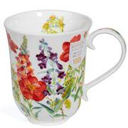 Dunoon - Braemar Cottage Flowers Mug Red