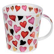 Dunoon - Cairngorm Lovehearts Red Mug