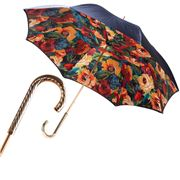 Pasotti - Umbrella Double Cloth Flowers Navy