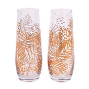 SunnyLife - Stemless Champagne Glasses Electric Bloom