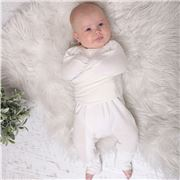 Bubba Blue - Air+ Swaddle Suit 0.5 TOG White 0-3 Months