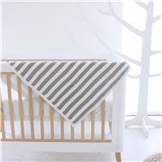 Bubba Blue - Reversible Knit Blanket Stripe Grey 70x90cm