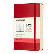 Moleskine - 2021 Daily Diary Hard Cover Scarlet Red Pocket