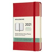 Moleskine - 2021 Weekly Diary Hard Cover Scarlet Red Pocket