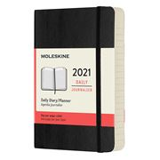 Moleskine - 2021 Daily Diary Soft Cover Black Pocket