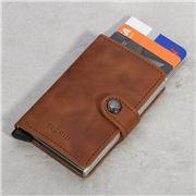 Secrid - Vintage Cognac Silver Mini Wallet