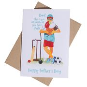 Candle Bark - Sporty Dad Card