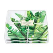 Michel Design - Palm Breeze Melamine Canapé Plate Set 4pce