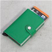 Secrid - Crisple Light Green Leather Mini Wallet