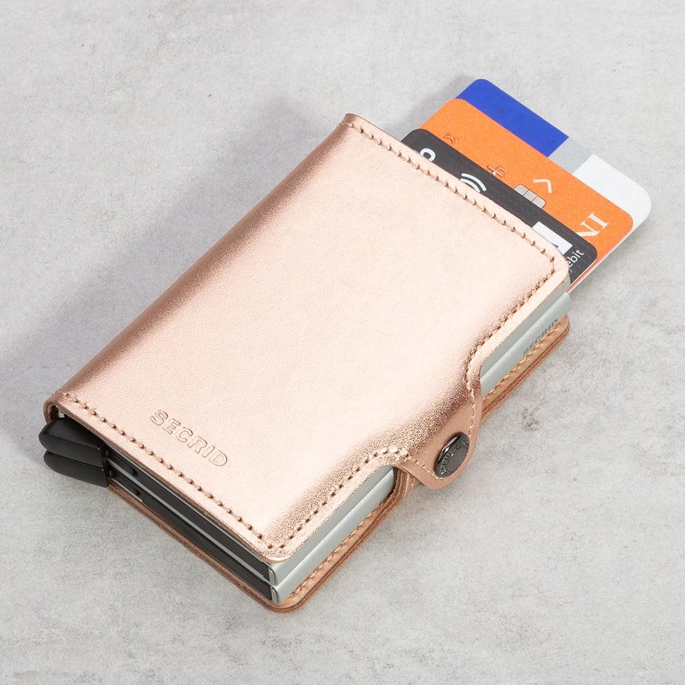 NEW Secrid Metallic Rose Twin Wallet