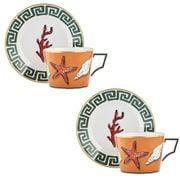 Richard Ginori - Luke Edward Hall Tea Cup & Saucer Set 2pce