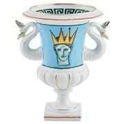 Richard Ginori - Luke Edward Hall Mediceo Vase Mermaid  Blue