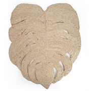Carnival - Palm Leaf Placemat  Natural Jute  50cm