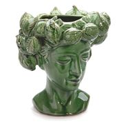 Mode - Lemon Head Lady Vase  25x27cm Green