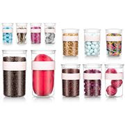 Bodum - Presso Clear Durable Storage Jar S/Berry Set 12pce