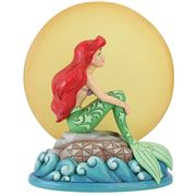 Disney - Ariel Sitting On A Rock By The Moon Figurine
