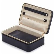 Wolf - Maria Rectangular Jewellery Zip Case Medium Navy