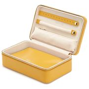 Wolf - Maria Rectangular Jewellery Zip Case Medium Mustard