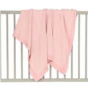 DLUX Baby - Pixie Cotton 2 Colour Cot Blanket Pink