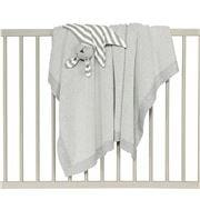 DLUX Baby - Pixie Cotton 2 Colour Cot Blanket Grey