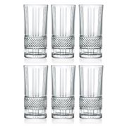 RCR Crystal - Brillante Hi-Ball Tumbler Set 369ml 6pce