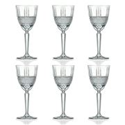 RCR Crystal - Brillante White Wine Glass Set  230ml 6pce