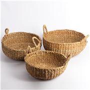 Peter's - Balah Seagrass Bowl Basket Set 3pce