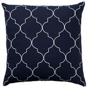 Paloma - Mykonos Linen Cushion Dark Navy 50x50cm