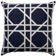 Paloma - Milano Tile Navy Cushion 50x50cm