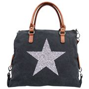 Sassy Duck - Star Power Canvas Bag Black