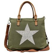 Sassy Duck - Star Power Canvas Bag Khaki