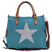 Sassy Duck - Star Power Canvas Bag Turquoise