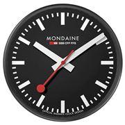 Mondaine - Official Swiss Railways Wall Clock Black 25cm