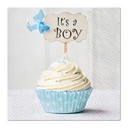 Paw - Lunch Napkins Cupcake 20pce Blue