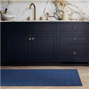 Chilewich - Breton Stripe Shag Mat Blueberry 125x91cm
