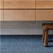 Chilewich - Skinny Stripe Shag Big Mat Forest 152x91cm