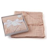 Pilbeam - Jiggle & Giggle Double Muslin Cotton Blanket Peach