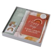 Pilbeam - Nordic Rainbow Muslin Blanket & Baby Photo Cards