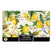 Michel Design - Lemon Basil Paper Placemat set 25pce
