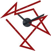 Alessi - Time Maze Wall Clock Red 47x50cm