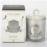 Cote Noire - Jardin Blanc Candle Silver Badge 450g