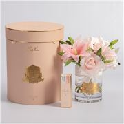 Cote Noire - Luxury Roses & Lilies Pink with Gold Crest