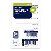 Filofax - Mini Week on One Page English Diary 2021