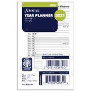 Filofax - Mini Year Planner vertical 2021 Diary