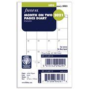 Filofax - Mini Month on Two Pages Dairy Refill 2021